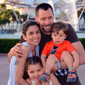 Danny Dwarf family portrait